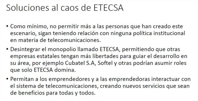Soluciones al caos de ETECSA
